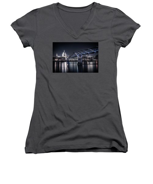 Women's V-Neck featuring the photograph St Pauls Cathedral by James Billings