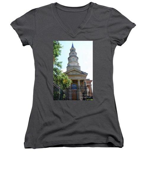 St. Phillips Episcopal Church, Charleston, South Carolina Women's V-Neck (Athletic Fit)