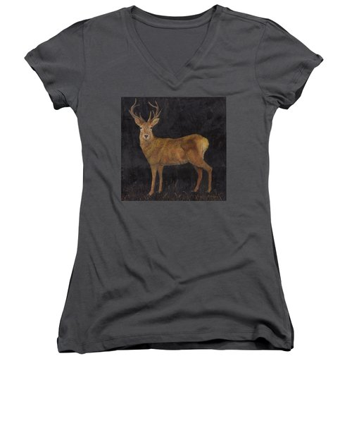 Stag Women's V-Neck T-Shirt