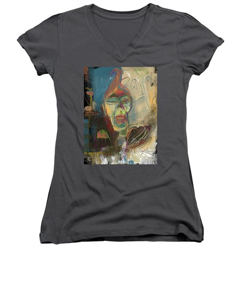 Stage Fright Women's V-Neck T-Shirt