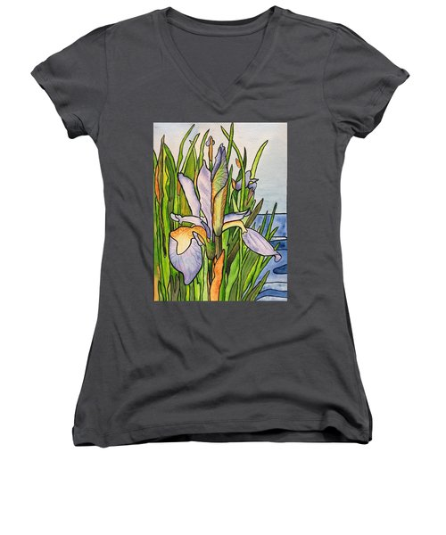 Stained Iris Women's V-Neck (Athletic Fit)