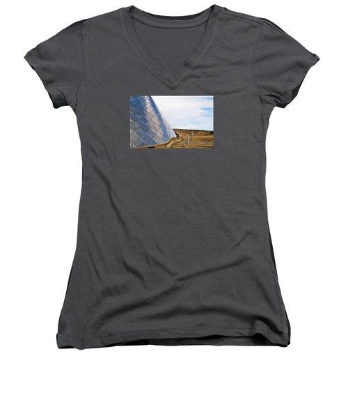 Staircase  Women's V-Neck T-Shirt (Junior Cut) by Martin Cline