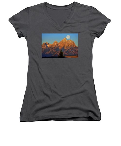 Stairway To The Moon Women's V-Neck