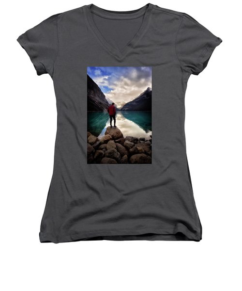 Standing Alone Women's V-Neck (Athletic Fit)
