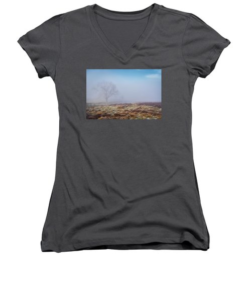 Women's V-Neck T-Shirt featuring the photograph Standing Fiercely by Jeremy Lavender Photography