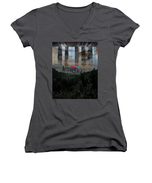 Star Castle Women's V-Neck T-Shirt