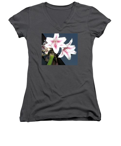 Star Flower Women's V-Neck T-Shirt (Junior Cut)