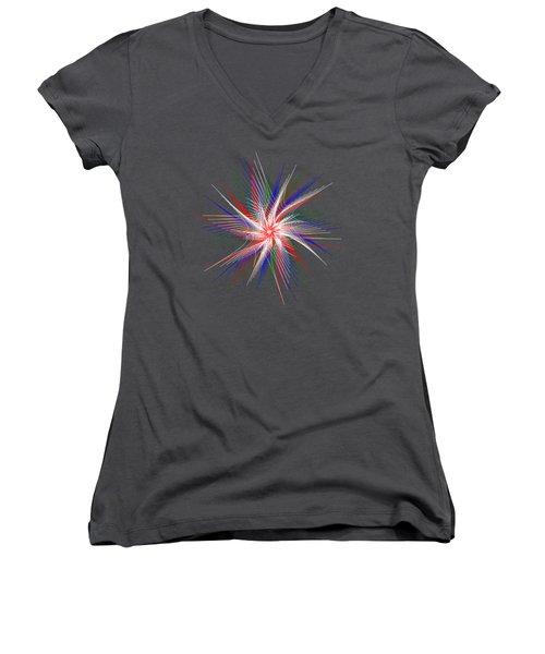 Star In Motion By Kaye Menner Women's V-Neck T-Shirt