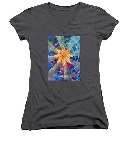 Star Mandala 1  Women's V-Neck T-Shirt