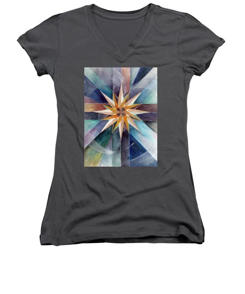 Star Mandala 2  Women's V-Neck