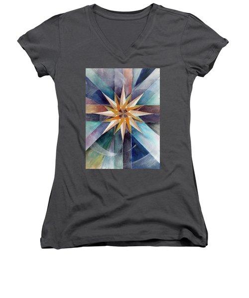 Star Mandala 2  Women's V-Neck T-Shirt