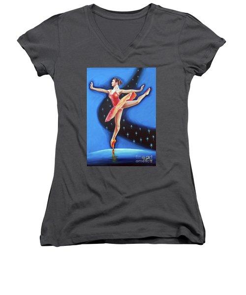 Star Night Women's V-Neck T-Shirt