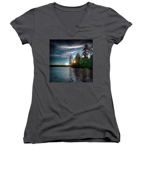Star Sunset Women's V-Neck T-Shirt