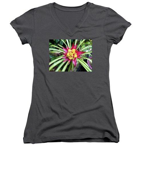Starburst Women's V-Neck T-Shirt (Junior Cut) by Russell Keating