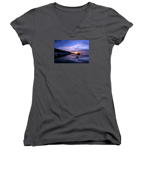 Starburst Women's V-Neck T-Shirt (Junior Cut) by Sean Sarsfield