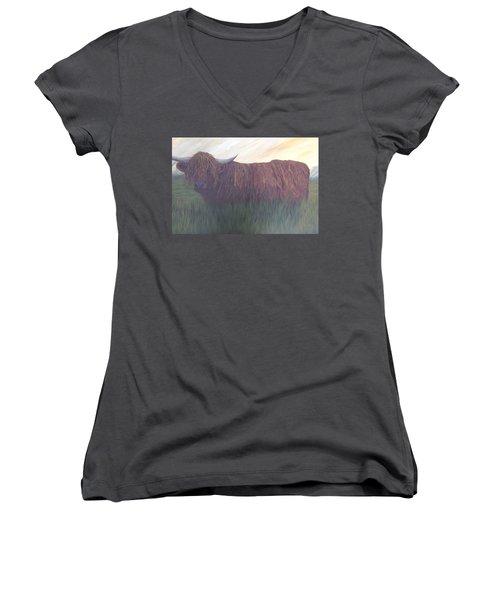 Stare Down Women's V-Neck T-Shirt