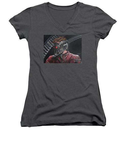 Starlord Women's V-Neck T-Shirt (Junior Cut) by Tom Carlton