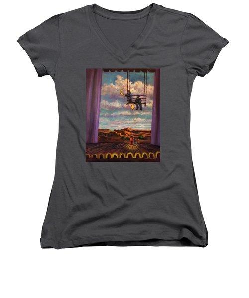 Starry Day Women's V-Neck T-Shirt
