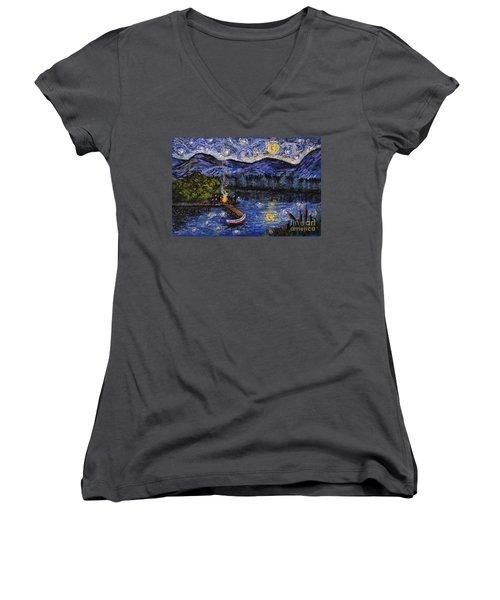 Starry Lake Women's V-Neck T-Shirt
