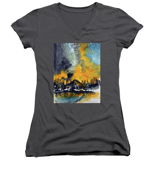 Starry Night Women's V-Neck