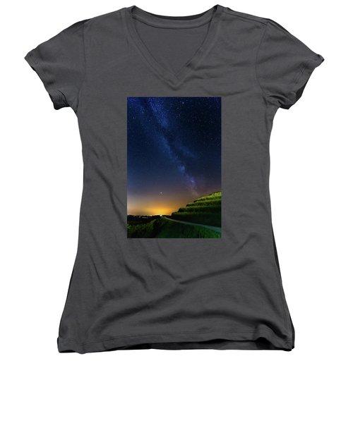 Starry Sky Above Me Women's V-Neck (Athletic Fit)