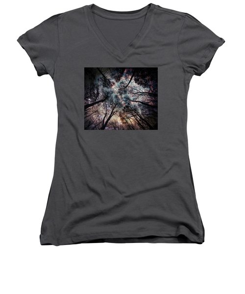 Starry Sky In The Forest Women's V-Neck