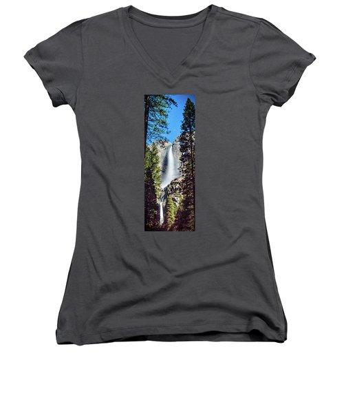 Starry Yosemite Falls Women's V-Neck (Athletic Fit)