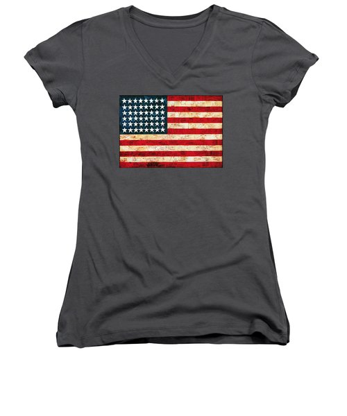 Stars And Stripes Women's V-Neck (Athletic Fit)