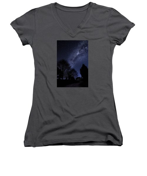 Stars And Trees Women's V-Neck (Athletic Fit)