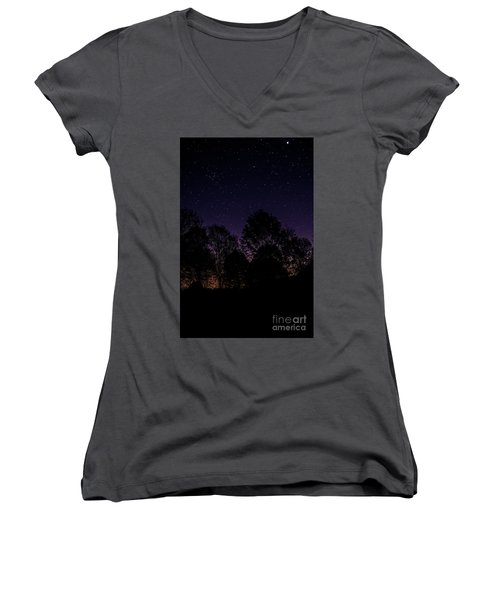 Women's V-Neck T-Shirt (Junior Cut) featuring the photograph Stars by Brian Jones