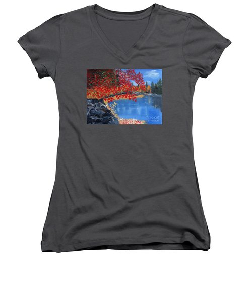 Start Of Fall Women's V-Neck T-Shirt