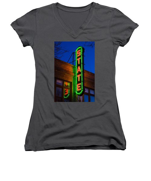 State Theatre - Ithaca Women's V-Neck (Athletic Fit)