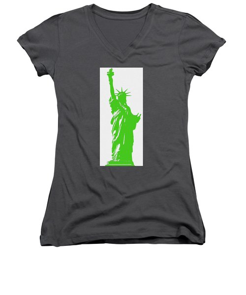 Statue Of Liberty No. 9-1 Women's V-Neck (Athletic Fit)