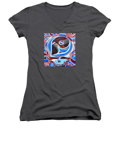 Steal Your Phils Women's V-Neck T-Shirt (Junior Cut) by Kevin J Cooper Artwork