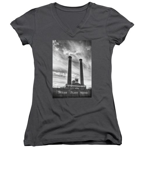 Steam Plant Square Women's V-Neck (Athletic Fit)