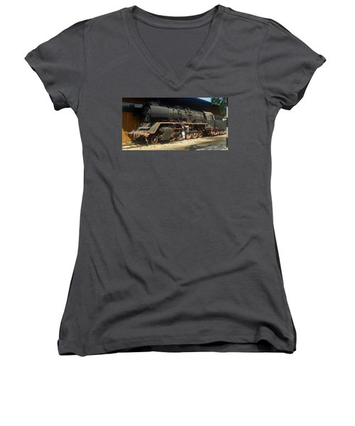 Steam Train  Women's V-Neck (Athletic Fit)