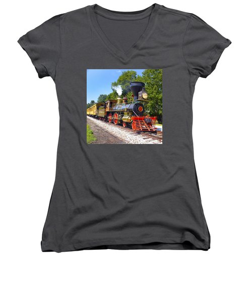 Steaming Into History Women's V-Neck