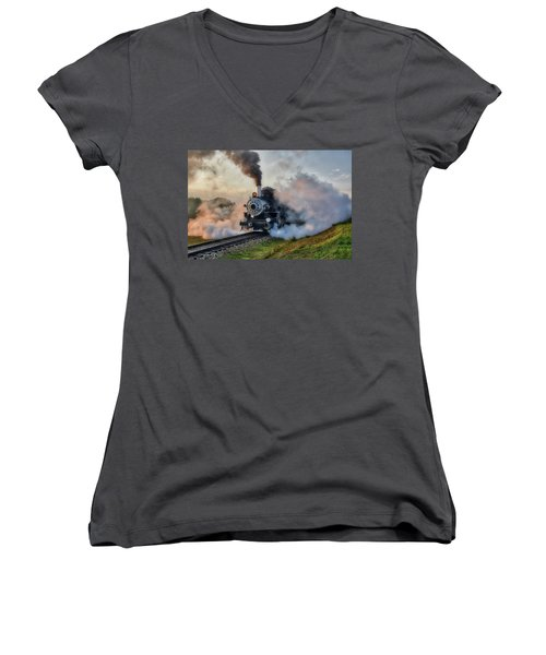 Steamy Departure Women's V-Neck (Athletic Fit)