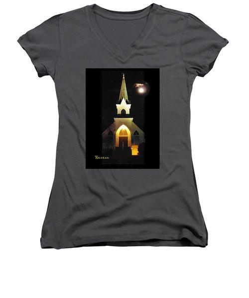 Steeple Chase 3 Women's V-Neck T-Shirt (Junior Cut) by Sadie Reneau