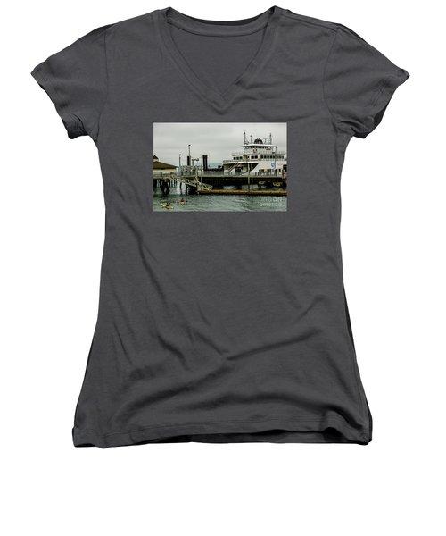 Steilacoom Ferry,washington State Women's V-Neck