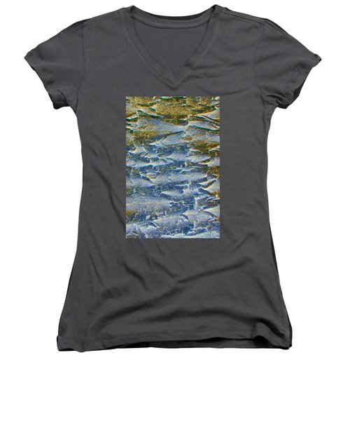 Women's V-Neck T-Shirt (Junior Cut) featuring the photograph Stepping Stones by Lenore Senior