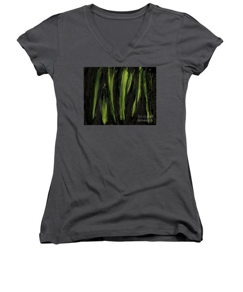 Stepping Through Mens Blades Of Mars Women's V-Neck (Athletic Fit)