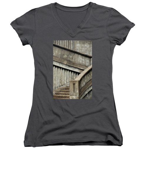 Steps Two Women's V-Neck T-Shirt (Junior Cut) by Newel Hunter