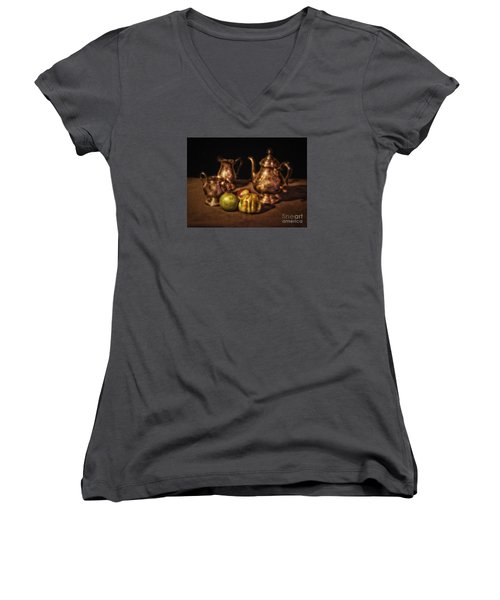 Still Life No. 17  ... Women's V-Neck T-Shirt (Junior Cut) by Chuck Caramella