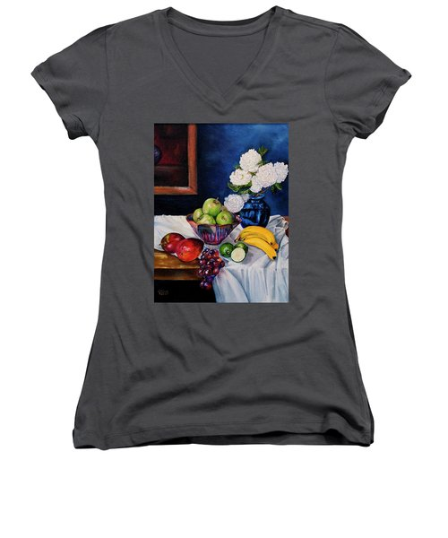 Still Life With Snowballs Women's V-Neck (Athletic Fit)