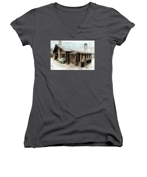 Still Livable Women's V-Neck T-Shirt (Junior Cut) by Deborah Nakano