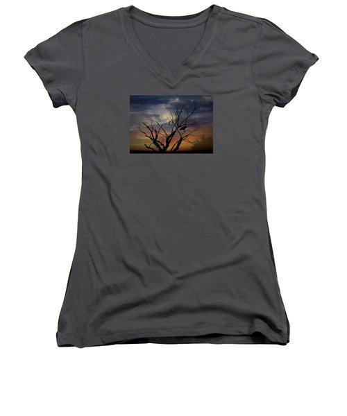 Still On My Mind Women's V-Neck T-Shirt (Junior Cut) by Ellery Russell
