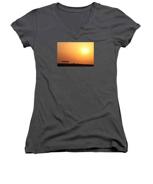 Still Out Of The Shade Women's V-Neck T-Shirt (Junior Cut) by Jez C Self