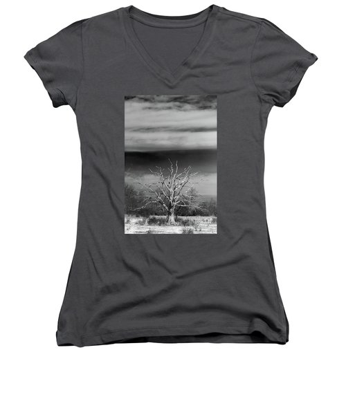 Still Standing Women's V-Neck T-Shirt (Junior Cut) by Nicki McManus