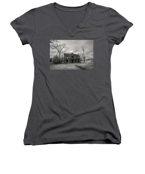 Still Standing Women's V-Neck T-Shirt (Junior Cut) by Paul Seymour